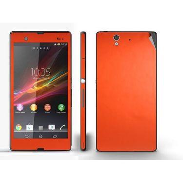 Snooky Mobile Skin Sticker For Sony Xperia Z 20835 - Orange