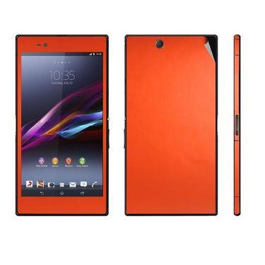 Snooky Mobile Skin Sticker For Sony Xperia Z Ultra 20855 - Orange