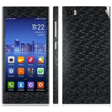 Snooky Mobile Skin Sticker For Xiaomi Mi3 20721 - Black