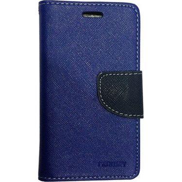 BMS lifestyle Mercury Filp book case cover for Asus Zenfone 6 - Dark blue