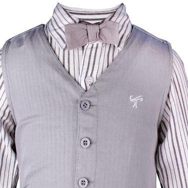 ShopperTree Boys Grey Partywear 3 Piece Set with Bow_ST-1412