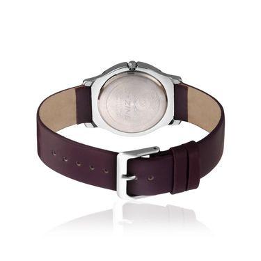 Dezine Round Dial Leather Wrist Watch For Women_2000prpprp - Purple