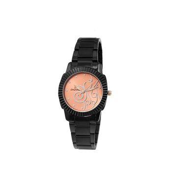 Dezine Round Dial Metal Wrist Watch For Women_0400orgbch - Orange