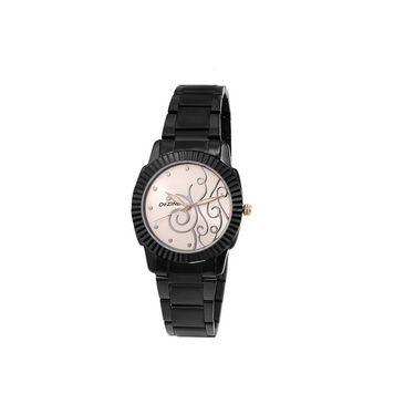 Dezine Round Dial Metal Wrist Watch For Women_0400whtbch - White