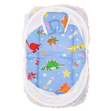 Wonderkids Blue Dinosaur Print Baby Bedding Set With Mosquito Net_MW-182-BDBMS