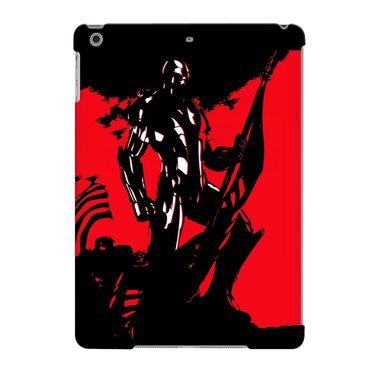 Snooky Digital Print Hard Back Case Cover For Apple iPad Air 23711 - Black