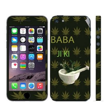 Snooky 28370 Digital Print Mobile Skin Sticker For Apple Iphone 5 - Green