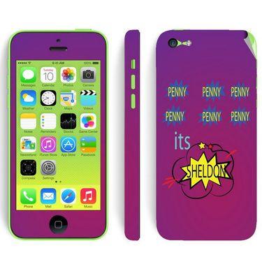 Snooky 28389 Digital Print Mobile Skin Sticker For Apple Iphone 5C - Purple