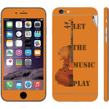 Snooky 28421 Digital Print Mobile Skin Sticker For Apple Iphone 6 - Orange