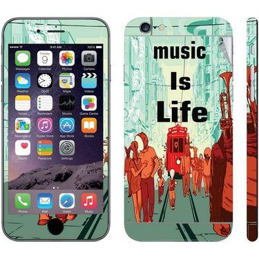 Snooky 28440 Digital Print Mobile Skin Sticker For Apple Iphone 6 Plus - Multi