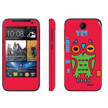 Snooky 27820 Digital Print Mobile Skin Sticker For HTC Desire 310 - Rose Pink