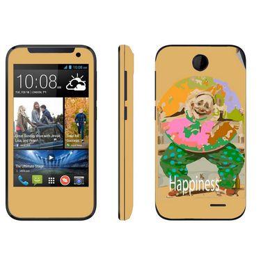 Snooky 27810 Digital Print Mobile Skin Sticker For HTC Desire 310 - Yellow