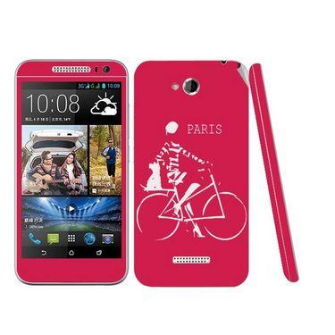 Snooky 28196 Digital Print Mobile Skin Sticker For HTC Desire 616 - Pink