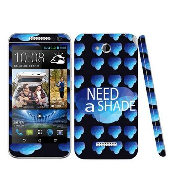 Snooky 28198 Digital Print Mobile Skin Sticker For HTC Desire 616 - Blue