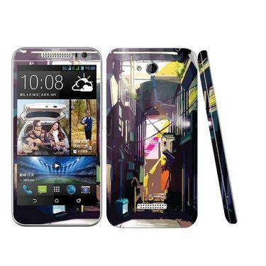 Snooky 28202 Digital Print Mobile Skin Sticker For HTC Desire 616 - Multi