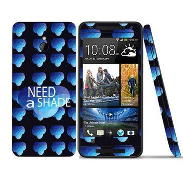 Snooky 28306 Digital Print Mobile Skin Sticker For HTC One mini - Blue