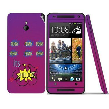 Snooky 28308 Digital Print Mobile Skin Sticker For HTC One mini - Purple