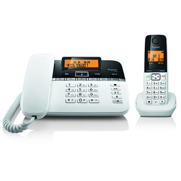 Gigaset Corded & Cordless Phone (C330) - Black & White