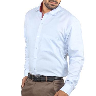 Fizzaro Plain Cotton Shirt_Plsrtc108 - Sky Blue