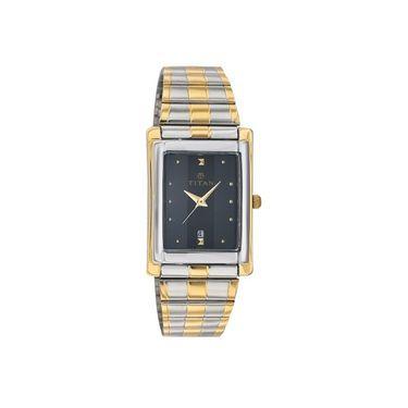 Titan Analog Rectangle Dial Watch_9154bm02 - Black