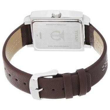 Titan Analog Rectangle Dial Watch_1593sl02 - White