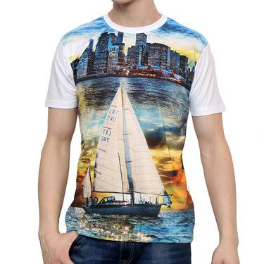 Combo of 2 Okane Half Sleeves T Shirts_Ts45354b55w - Black & White