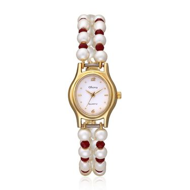 Pack of 5 Oleva Round Dial Analog Watches_80ds81234 - White