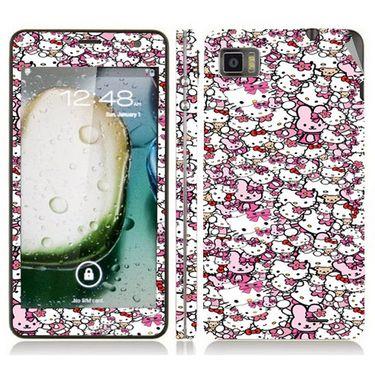 Snooky 38768 Digital Print Mobile Skin Sticker For Lenovo K860 - Pink