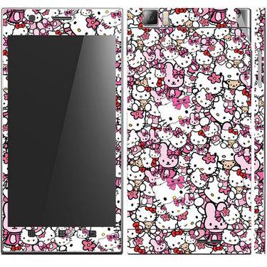 Snooky 38769 Digital Print Mobile Skin Sticker For Lenovo K900 - Pink