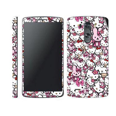 Snooky 38782 Digital Print Mobile Skin Sticker For LG G3 - Pink