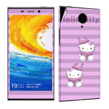 Snooky 38899 Digital Print Mobile Skin Sticker For Gionee Elife E7 - Purple