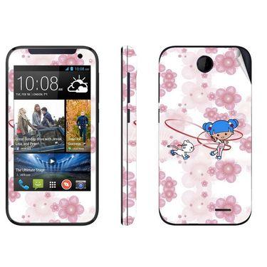 Snooky 38920 Digital Print Mobile Skin Sticker For HTC Desire 310 - White