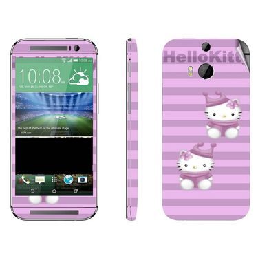 Snooky 38947 Digital Print Mobile Skin Sticker For HTC One M8 - Purple