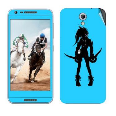 Snooky 38986 Digital Print Mobile Skin Sticker For HTC Desire 820 mini - Blue