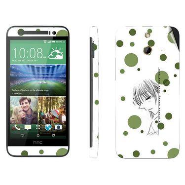 Snooky 38997 Digital Print Mobile Skin Sticker For HTC One E8 - White