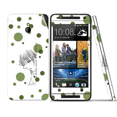 Snooky 39021 Digital Print Mobile Skin Sticker For HTC One mini - White