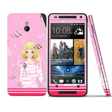 Snooky 39024 Digital Print Mobile Skin Sticker For HTC One mini - Pink