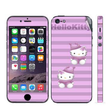 Snooky 39043 Digital Print Mobile Skin Sticker For Apple Iphone 5 - Purple