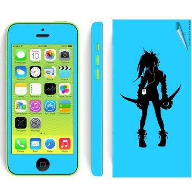 Snooky 39058 Digital Print Mobile Skin Sticker For Apple Iphone 5C - Blue