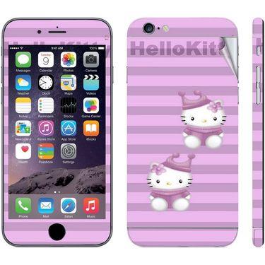 Snooky 39067 Digital Print Mobile Skin Sticker For Apple Iphone 6 - Purple