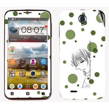 Snooky 39093 Digital Print Mobile Skin Sticker For Lenovo A850 - White
