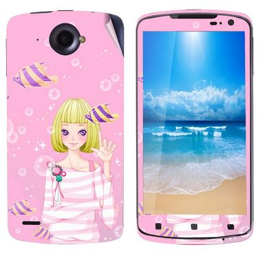 Snooky 39120 Digital Print Mobile Skin Sticker For Lenovo S920 - Pink