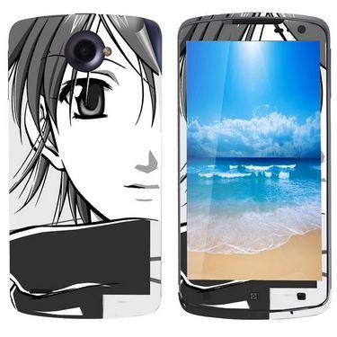 Snooky 39122 Digital Print Mobile Skin Sticker For Lenovo S920 - Gray