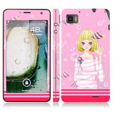Snooky 39132 Digital Print Mobile Skin Sticker For Lenovo K860 - Pink
