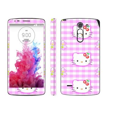 Snooky 39152 Digital Print Mobile Skin Sticker For LG G3 Stylus - Pink