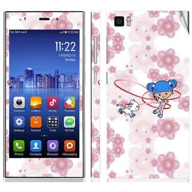 Snooky 39196 Digital Print Mobile Skin Sticker For Xiaomi Mi3 - White