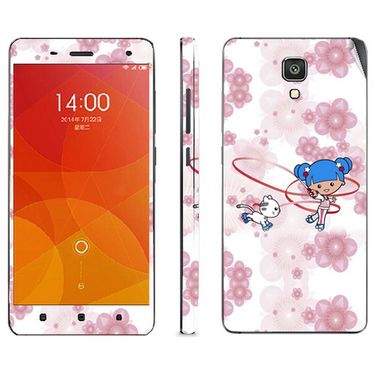 Snooky 39208 Digital Print Mobile Skin Sticker For Xiaomi Mi4 - White