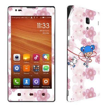 Snooky 39220 Digital Print Mobile Skin Sticker For Xiaomi Redmi 1s - White