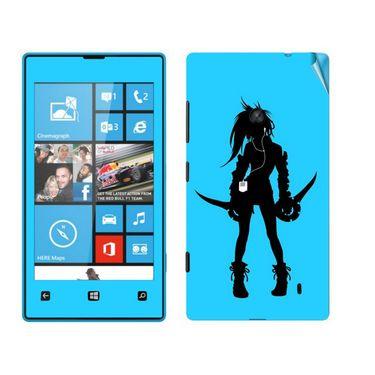 Snooky 39238 Digital Print Mobile Skin Sticker For Nokia Lumia 520 - Blue