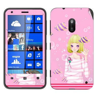 Snooky 39252 Digital Print Mobile Skin Sticker For Nokia Lumia 620 - Pink